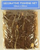Braunes Deko-Fischernetz