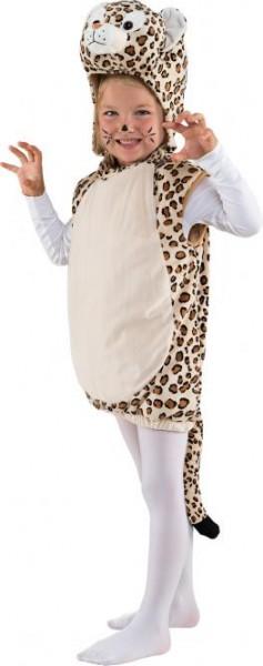 Kostüm kleiner Leopard Gr. 104 ärmelloses Oberteil mit Kapuze