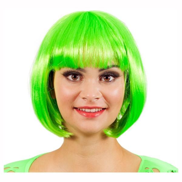 WILBERS Perücke Bobline, neon-grün