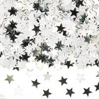 Amscan Deko-Konfetti Sterne silber
