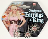 Ohrringe und Ring Edelweiss