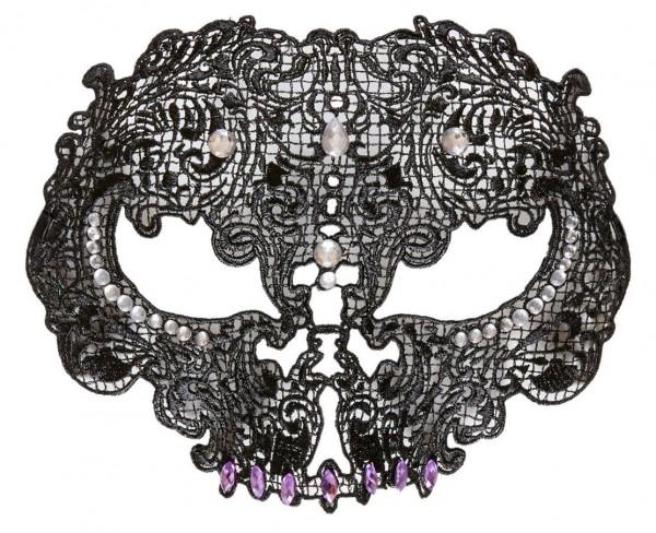 Schwarze Skull - Dominomaske