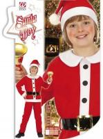 Kinderkostüm Santa Boy 128cm