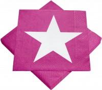 Servietten Pink mit Stern
