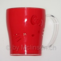 Hello Kitty Becher rot