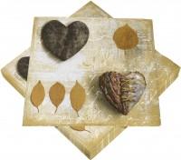 Servietten mit Herzmotiv