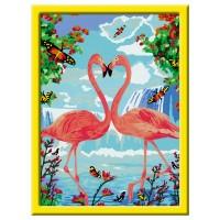 RAVENSBURGER Malset Flamingo Love