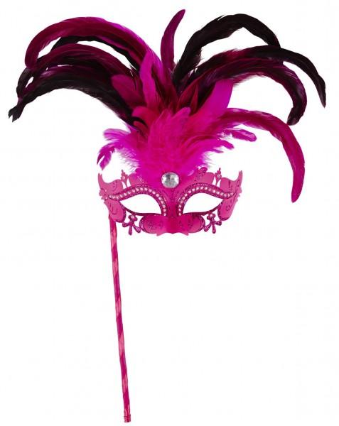 Pinke Augenmaske mit Stab