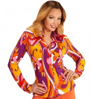 Orchideen Groovy-Bluse L/XL