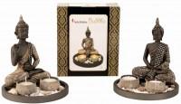 Buddha mit Teelichter