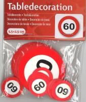 XL Tischkonfetti Verkehrschild 60