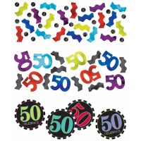Amscan Dekokonfetti 50. Geburtstag