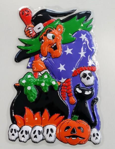 Wanddeko Halloween Hexe