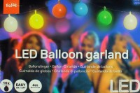 Multicolor Ballongirlande mit LED