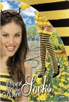 Overknees Strümpfe Biene