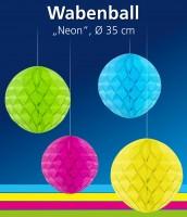 Wabenball Neon