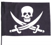 Piratenflagge mit Stab