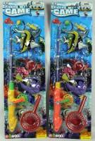 Angelset mit 3 Fischen Fishing Game