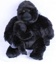 Plüsch Gorilla mit Baby