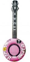 Aufblasbares Banjo rosa