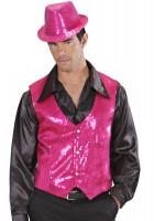 Pailettenweste pink L