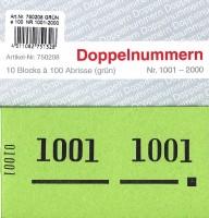 Doppelnummer grün 120x60mm 1001-2000