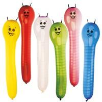 6 Figurenballone Raupen