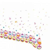 Amscan Plastiktischdecke Cupcake