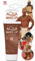 Braunes Aqua Make-Up