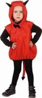 Kostüm Teufel Grösse 104 ärmelloses Oberteil mit Kapuze