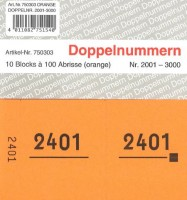 Doppelnummer orange 120x60mm 2001-3000