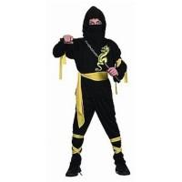 Fasnacht Ninja schwarz S (110-116)