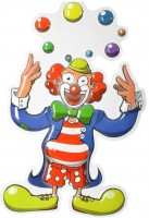 Wanddeko Clown