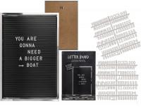 Buchstabentafel mit 292 Buchstaben und Zahlen