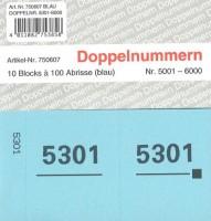 Doppelnummer blau 120x60mm 5001-6000