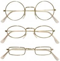 Brille goldfarben