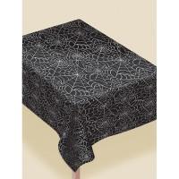 Tischdecke Spinnennetze schwarz