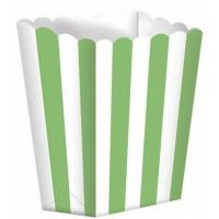 5  Popcorn Schachteln grün