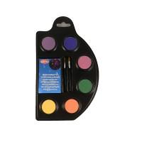 6 Aqua Schminkfarben UV-Effekt