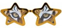 Sternbrille Tigeraugen XXL