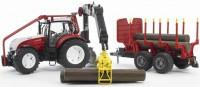 BRUDER Traktor Steyr CVT 6230 mit Rückeanhänger