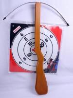 Armbrust Holz 55cm mit Zielscheibe & Pfeilen