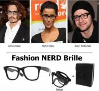Faltbare Nerdbrille schwarz