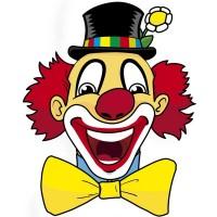 Fasnacht Wanddeko Clown Leo