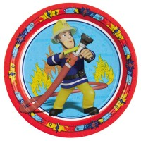 Amscan 8 Teller 23cm Fireman Sam