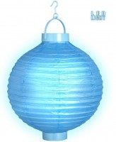 Blauer LED Lampion
