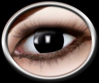 Kontaktlinse Blinder schwarz (ohne Pupillenöffnung)