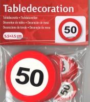 XL Tischkonfetti Verkehrschild 50