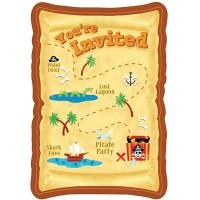 8 Einladungs-Sets Piraten