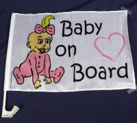 "Autofahne ""Baby on Board"" girl"
